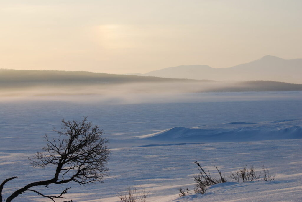 Bekkosen over Aursunden mot Vigelfjella