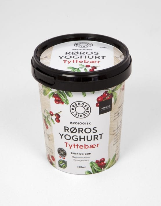 Økologisk røros yoghurt tyttebær