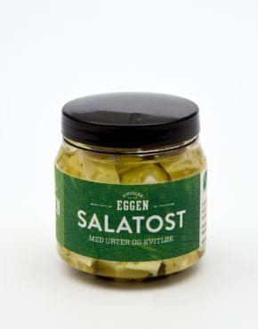 Salatost med fjellurt og kvitløk