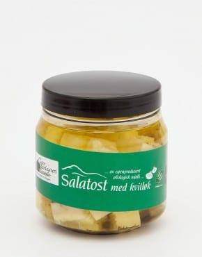 Salatost med kvitløk