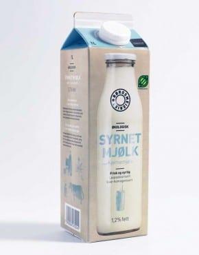 Syrnet mjølk med kjernemjølk