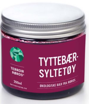 Økologisk Tyttebærsyltetøy fra Terroir Røros