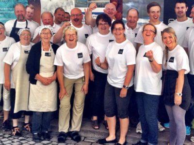 Deler av gjengen i Rørosmat SA